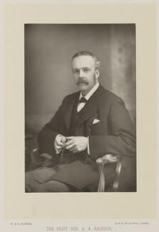 Arthur James Balfour, 1st Earl of Balfour, by W. & D. Downey, published by  Cassell & Company, Ltd - NPG Ax27926