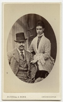 Alexander III, Emperor of Russia; Maria Feodorovna, Empress of Russia (Princess Dagmar), by James Russell & Sons, early 1870s - NPG Ax28401 - © National Portrait Gallery, London