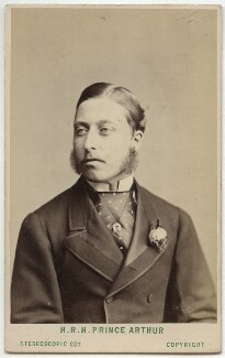 Prince Arthur, 1st Duke of Connaught and Strathearn, by London Stereoscopic & Photographic Company - NPG Ax28406