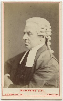 Henry Hawkins, Baron Brampton, by London Stereoscopic & Photographic Company, 1872 - NPG Ax28433 - © National Portrait Gallery, London