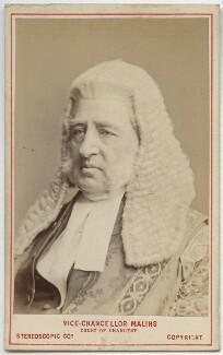 Sir Richard Malins, by London Stereoscopic & Photographic Company - NPG Ax28442