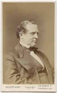 Edward Henry Stanley, 15th Earl of Derby, by Elliott & Fry, 1870? - NPG Ax28459 - © National Portrait Gallery, London