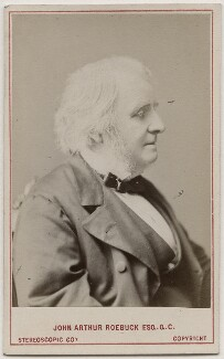 John Arthur Roebuck, by London Stereoscopic & Photographic Company, 1873 - NPG Ax28465 - © National Portrait Gallery, London
