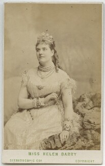 Helen Barry as Queen Selene in 'Happy Land', by London Stereoscopic & Photographic Company - NPG Ax28493