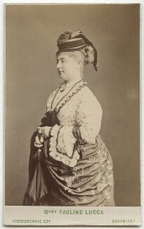 Pauline Lucca, by London Stereoscopic & Photographic Company - NPG Ax28529