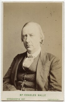 Sir Charles Hallé (né Carl Halle), by London Stereoscopic & Photographic Company, 1873 or before - NPG Ax28537 - © National Portrait Gallery, London