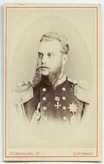 Alexei Alexandrovich, Grand Duke of Russia, by London Stereoscopic & Photographic Company, 1874 or before - NPG Ax28552 - © National Portrait Gallery, London