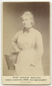 Minnie Walton (Mrs Frederick Lyster) as Mary Meredith in 'Our American Cousin', by Fradelle & Marshall - NPG Ax28583