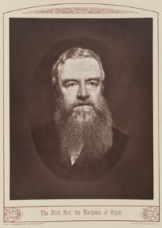 George Frederick Samuel Robinson, 1st Marquess of Ripon and 3rd Earl de Grey, by Alexander Bassano, published 1889 - NPG Ax28671 - © National Portrait Gallery, London