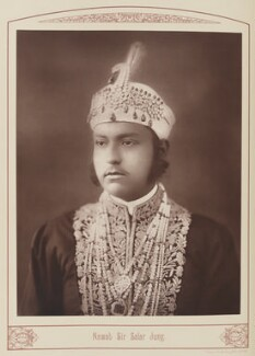 Sir Salar Jang of Hyderabad, by Unknown photographer - NPG Ax28688