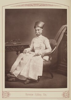 Byramjee Jeejeebhoy, by Unknown photographer, published 1889 - NPG Ax28694 - © National Portrait Gallery, London