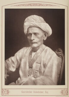 Gourishanker Oodeshanker, by Unknown photographer, published 1889 - NPG Ax28702 - © National Portrait Gallery, London
