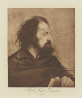 Alfred, Lord Tennyson, by Julia Margaret Cameron, published by  T. Fisher Unwin - NPG Ax29131