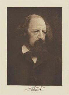 Alfred, Lord Tennyson, by Julia Margaret Cameron, published by  T. Fisher Unwin - NPG Ax29132