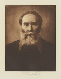 James Russell Lowell, by Henry Herschel Hay Cameron (later The Cameron Studio), published by  T. Fisher Unwin - NPG Ax29145