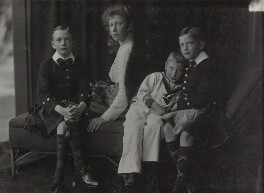 Prince Henry, Duke of Gloucester; Princess Mary, Countess of Harewood; Prince John; Prince George, Duke of Kent, by Lafayette (Lafayette Ltd), 1909 - NPG Ax29313 - © National Portrait Gallery, London