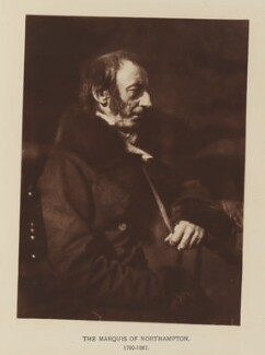 Spencer Joshua Alwyne Compton, 2nd Marquess of Northampton, after David Octavius Hill, and  Robert Adamson - NPG Ax29545