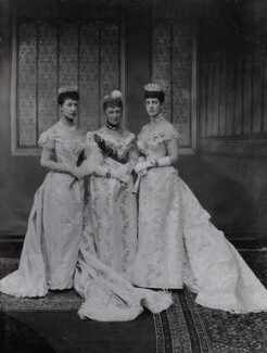 Princess Louise, Duchess of Fife; Louise, Queen of Denmark; Queen Alexandra, by Lafayette (Lafayette Ltd), 6 July 1893 - NPG Ax36415 - © National Portrait Gallery, London