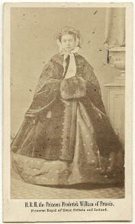 Victoria, Empress of Germany and Queen of Prussia, by L. Haase & Co, early 1860s - NPG Ax38286 - © National Portrait Gallery, London