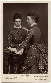 Maria Feodorovna, Empress of Russia (Princess Dagmar); Queen Alexandra, by Maull & Co - NPG Ax38292