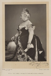 Princess Augusta Caroline, Grand Duchess of Mecklenburg-Strelitz, by Walery, published by  Sampson Low & Co, published July 1889 - NPG Ax38295 - © National Portrait Gallery, London