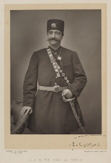 Nasser al-Din, Shah of Persia, by Walery, published by  Sampson Low & Co, published August 1889 - NPG Ax38298 - © National Portrait Gallery, London