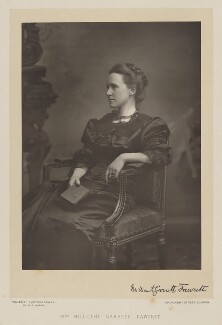 Dame Millicent Fawcett, by Walery, published by  Sampson Low & Co - NPG Ax38301