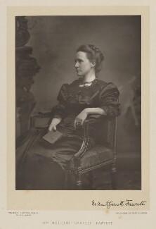 Dame Millicent Garrett Fawcett (née Garrett), by Walery, published by  Sampson Low & Co, published September 1889 - NPG Ax38301 - © National Portrait Gallery, London