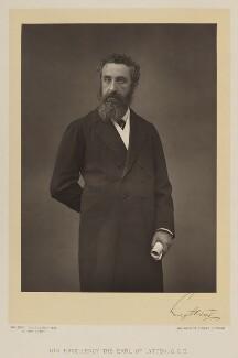 Edward Robert Bulwer-Lytton, 1st Earl of Lytton, by Walery, published by  Sampson Low & Co, published November 1889 - NPG Ax38306 - © National Portrait Gallery, London
