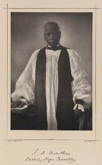 Samuel Adjai Crowther, by Samuel Alexander Walker, printed by  Waterlow & Sons Ltd - NPG Ax38357