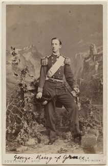 George I, King of Greece, by Southwell Brothers, 1863 - NPG Ax38445 - © National Portrait Gallery, London