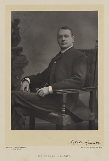 Sydney Grundy, by Walery, published by  Sampson Low & Co - NPG Ax38503
