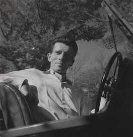 Michael Rennie during the filming of 'The Golden Madonna', by Francis Goodman - NPG Ax39675