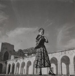 Phyllis Calvert during the filming of 'The Golden Madonna', by Francis Goodman - NPG Ax39676