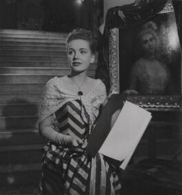 Phyllis Calvert during the filming of 'The Golden Madonna', by Francis Goodman - NPG Ax39677
