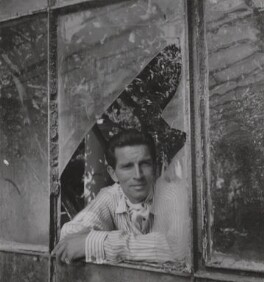 Michael Rennie during the filming of 'The Golden Madonna', by Francis Goodman - NPG Ax39678