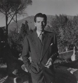 Michael Rennie during the filming of 'The Golden Madonna', by Francis Goodman - NPG Ax39680