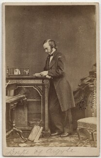 George Douglas Campbell, 8th Duke of Argyll, by Hills & Saunders, 1860s - NPG Ax39792 - © National Portrait Gallery, London