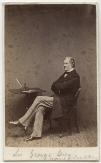 Sir George Grey, 2nd Bt, by W. & D. Downey - NPG Ax39794