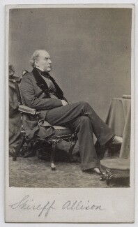 Sir Archibald Alison, 1st Bt, by William White, 1860s - NPG Ax39800 - © National Portrait Gallery, London