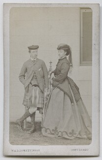 Prince Arthur, 1st Duke of Connaught and Strathearn; Princess Louise Caroline Alberta, Duchess of Argyll, by W. & D. Downey - NPG Ax39815