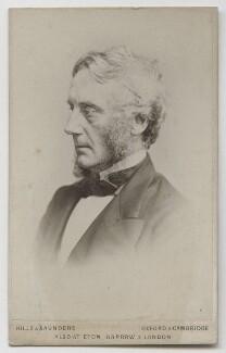 Edward Cardwell, Viscount Cardwell, by Hills & Saunders - NPG Ax39893