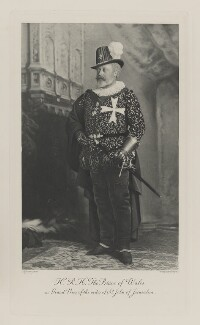 King Edward VII when Prince of Wales as Grand Prior of the order of St John of Jerusalem, by Lafayette, photogravure by  Walker & Boutall - NPG Ax41004