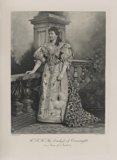 Princess Louise, Duchess of Connaught (née Princess of Prussia) as Anne of Austria, by Lafayette, photogravure by  Walker & Boutall - NPG Ax41008