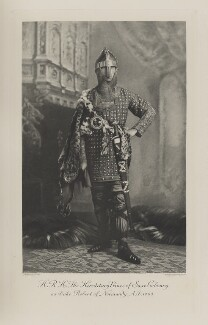 Prince Alfred of Saxe-Coburg and Gotha as Duke Robert of Normandy, A.D. 1060, by Lafayette (Lafayette Ltd), photogravure by  Walker & Boutall, 2 July 1897; published 1899 - NPG Ax41012 - © National Portrait Gallery, London