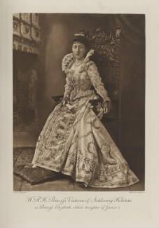 Princess Helena Victoria of Schleswig-Holstein as Princess Elizabeth, eldest daughter of James I, by Alfred Ellis, photogravure by  Walker & Boutall - NPG Ax41013