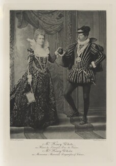 Margaret ('Daisy') Stuyvesant Rutherford White (née Rutherfurd) as Morosina Morosini, Dogaressa of Venice and Henry White as Henri de Lorraine, Duc de Guise, by Henry Van der Weyde, photogravure by  Walker & Boutall - NPG Ax41016