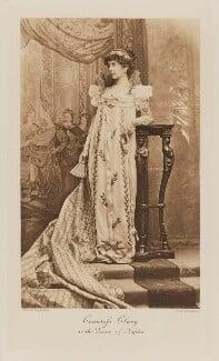 Thérèse (née Kinsky), Countess Clary-Aldringen as the Queen of Naples, by Henry Van der Weyde, photogravure by  Walker & Boutall - NPG Ax41033