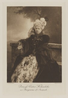 Princess Victor of Hohenlohe-Langenburg (Laura Williamina (née Seymour), Countess von Gleichen) as Margravine of Anspach (Ansbach), by Henry Bullingham, photogravure by  Walker & Boutall - NPG Ax41048