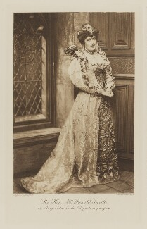 Dame Margaret Helen Greville (née Anderson) as Mary Seaton in the Elizabethan Procession, by Alice Hughes, photogravure by  Walker & Boutall - NPG Ax41049